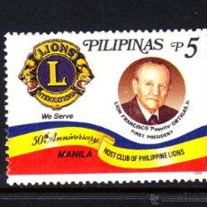 Sellos: FILIPINAS 2498** - AÑO 1999 - 50º ANIVERSARIO DEL LIONS CLUB DE MANILA. Lote 49388925