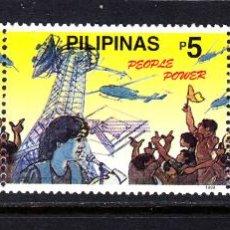 Sellos: FILIPINAS 2561/63** - AÑO 1999 - NUEVO MILENIO - EL PODER DEL PUEBLO. Lote 49389072