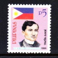 Sellos: FILIPINAS 2497** - AÑO 1999 - PERSONAJES - JOSÉ RIZAL. Lote 49438734