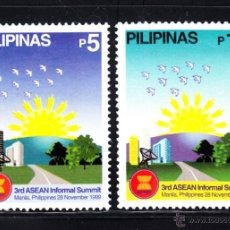 Sellos: FILIPINAS 2544/45** - AÑO 1999 - 3ª CUMBRE INFORMAL DE LA ASEAN. Lote 49438748