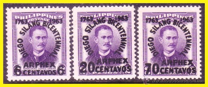 FILIPINAS 1963 ARPEX, 3 VALORES IVERT Nº ? * * (Sellos - Extranjero - Asia - Filipinas)