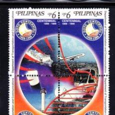 Sellos: FILIPINAS 2493/96** - AÑO 1999 - CENT. DEL MINISTERIO DE TRANSPORTES Y COMUNICACIÓNES. Lote 49646157
