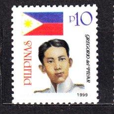 Sellos: FILIPINAS 2560A** - AÑO 1999 - GREGORIO DEL PILAR, HÉROE DE LA REVOLUCIÓN. Lote 49646311