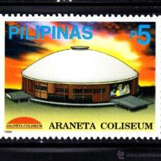 Sellos: FILIPINAS 2548** - AÑO 1999 - ARQUITECTURA - COLISEUM ARANETA. Lote 49971899