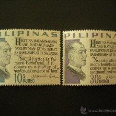 Stamps - Filipinas 1967 Ivert 678/9 *** Presidente Manuel L. Quezon - Personajes - 50891555