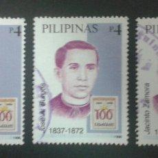 Sellos: SELLOS DE FILIPINAS. YVERT 2893/5. SERIE COMPLETA USADA. . Lote 54380503