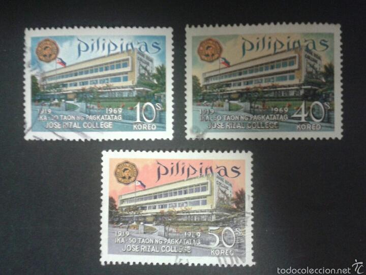 SELLOS DE FILIPINAS. YVERT 722/4. SERIE COMPLETA USADA. (Sellos - Extranjero - Asia - Filipinas)
