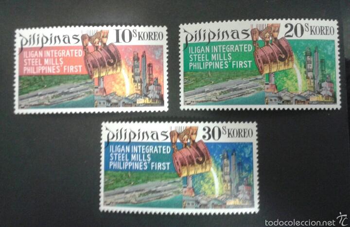 SELLOS FILIPINAS. INDUSTRIA. YVERT 767/9. SERIE COMPLETA NUEVA SIN CHARNELA. (Sellos - Extranjero - Asia - Filipinas)