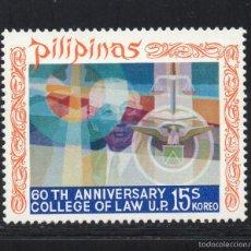 Sellos: FILIPINAS 822** - AÑO 1971 - 60º ANIVERSARIO DE LA FACULTAD DE DERECHO. Lote 56379751