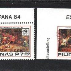 Sellos: FILIPINAS 1399/400** - AÑO 1984 - PINTURA - SEMANA DEL MUSEO. Lote 56541558