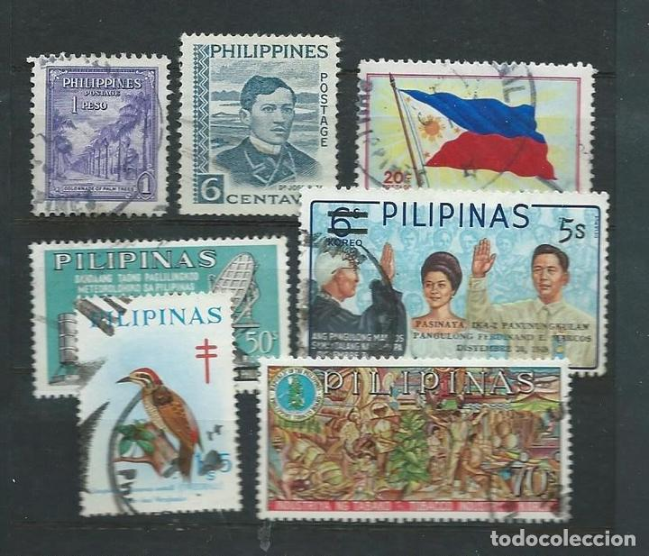 7 SELLOS USADOS DE FILIPINAS (Sellos - Extranjero - Asia - Filipinas)
