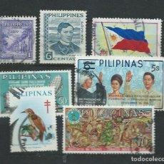 Sellos: 7 SELLOS USADOS DE FILIPINAS. Lote 69575778