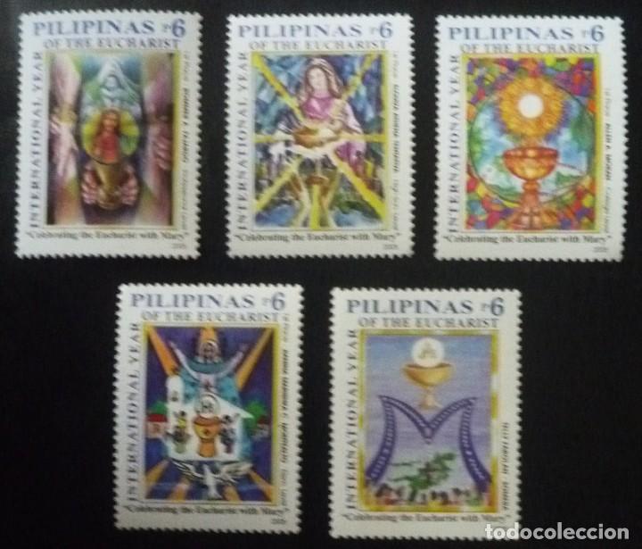 CINCO SELLOS DE FILIPINAS. TEMA EUCARISTIA (Sellos - Extranjero - Asia - Filipinas)