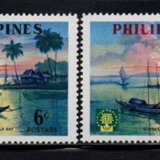 Sellos: FILIPINAS 496/97** - AÑO 1960 - AÑO MUNDIAL DEL REFUGIADO. Lote 105960358