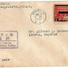 Sellos: FILIPINAS. 1943 SOBRE DE MANILA A COLOMBIA DE LA ÉPOCA DE LA OCUPACIÓN JAPONESA . Lote 87454172