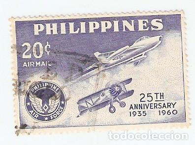 SELLO USADO AÉREO FILIPINAS. YVERT Nº 60AE. FILIPINAS FUERZA AÉREA. REF. 2-FILIP60AE (Sellos - Extranjero - Asia - Filipinas)