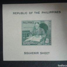Sellos: FILIPINAS. YVERT HB-2. SERIE COMPLETA NUEVA CON CHARNELA. SEGUNDA GUERRA MUNDIAL. F.D.. ROOSEVELT.. Lote 103548514
