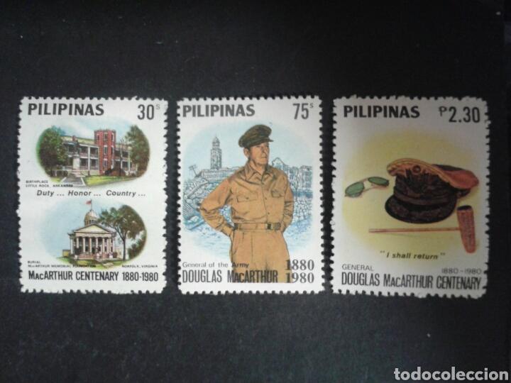 FILIPINAS. YVERT 1167/9. SERIE COMPLETA *** SEGUNDA GUERRA MUNDIAL. GENERAL DOUGLAS MAC-ARTHUR. (Sellos - Extranjero - Asia - Filipinas)