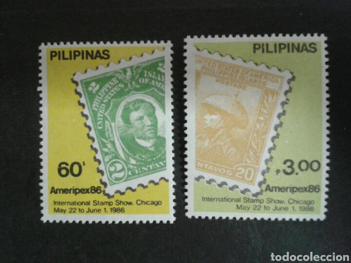 FILIPINAS. YVERT 1503/4. SERIE COMPLETA NUEVA SIN CHARNELA. SELLOS SOBRE SELLOS. (Sellos - Extranjero - Asia - Filipinas)