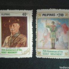 Sellos: FILIPINAS. YVERT 1272/4. SERIE COMPLETA NUEVA SIN CHARNELA. SCOUTS.. Lote 103548659