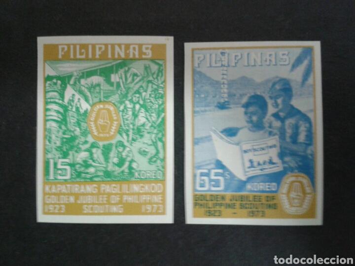 FILIPINAS. YVERT 995A/6A. SIN DENTAR. SERIE COMPLETA NUEVA SIN CHARNELA. SCOUTS. (Sellos - Extranjero - Asia - Filipinas)