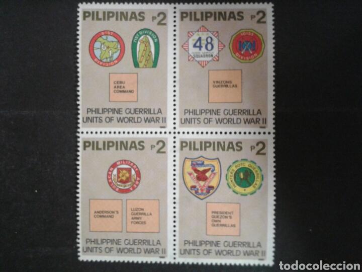 FILIPINAS. YVERT 1954/7. SERIE COMPLETA NUEVA SIN CHARNELA. SEGUNDA GUERRA MUNDIAL. GUERRILLA. (Sellos - Extranjero - Asia - Filipinas)