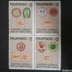 Sellos: FILIPINAS. YVERT 1954/7. SERIE COMPLETA NUEVA SIN CHARNELA. SEGUNDA GUERRA MUNDIAL. GUERRILLA.. Lote 103548990