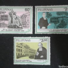 Sellos: FILIPINAS. YVERT 1509/11. SERIE COMPLETA NUEVA SIN CHARNELA. LA SALLE. SALESIANOS. Lote 103549139