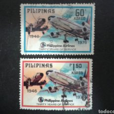 Selos: FILIPINAS. YVERT 1008/9. SERIE COMPLETA USADA. AVIONES. AVIACIÓN. Lote 104920528
