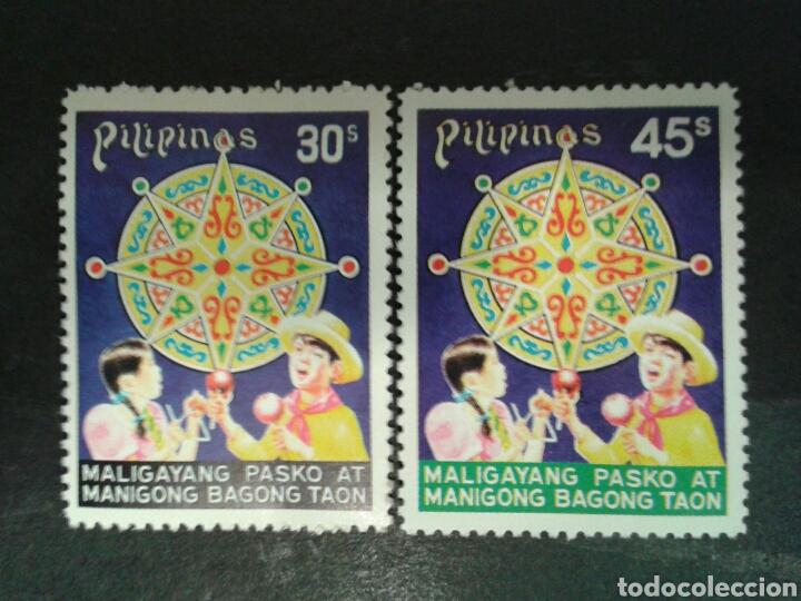 FILIPINAS. YVERT 1056/7. SERIE COMPLETA NUEVA SIN CHARNELA. NAVIDAD. (Sellos - Extranjero - Asia - Filipinas)