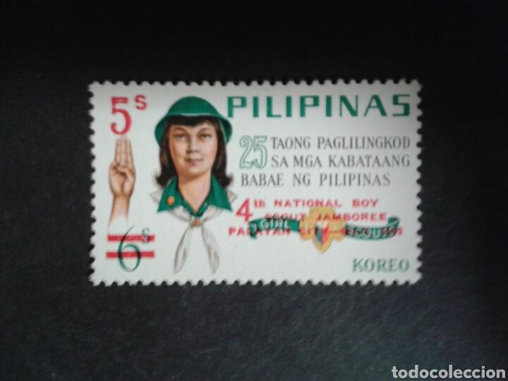 FILIPINAS. YVERT 727. SERIE COMPLETA NUEVA CON CHARNELA. SCOUTS. SOBRECARGADOS. (Sellos - Extranjero - Asia - Filipinas)