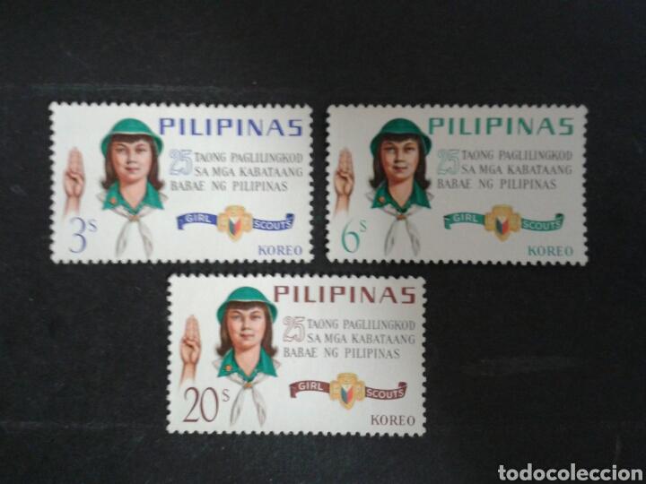 FILIPINAS. YVERT 643/5. SERIE COMPLETA SIN GOMA. SCOUTS. (Sellos - Extranjero - Asia - Filipinas)