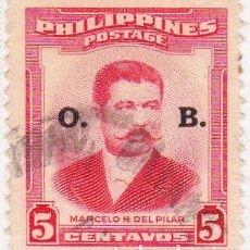 Sellos: 1957 - FILIPINAS - MARCELO DEL PILAR - IVERT 87. Lote 105826667