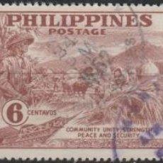 Sellos: LOTE Z SELLOS FILIPINAS AÑO 1951 SERIE COMPLETA GRAN TAMAÑO. Lote 107799607