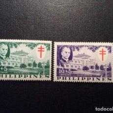 Stamps - FILIPINAS Nº YVERT 460/1***AÑO 1958. LUCHA ANTITUBERCULOSIS. INSTITUTO MANUEL QUEZON - 108758855