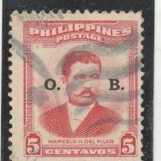 Sellos: FILIPINAS (USA) 1952 - MICHEL NRO. D48 - USADO LEVE ADELGAZADO. Lote 113357431