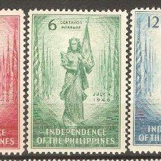 Sellos: FILIPINAS,1946,CAT.MI.458/460.. Lote 113573955