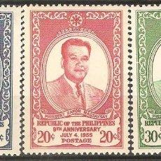 Sellos: FILIPINAS,1955,CAT.MI.593/595.. Lote 113574119