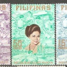 Sellos: FILIPINAS,1973,CAT.MI.1080/1082.. Lote 113703055