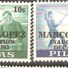 Sellos: FILIPINAS,1965,CAT.YT.636/637.. Lote 113707071