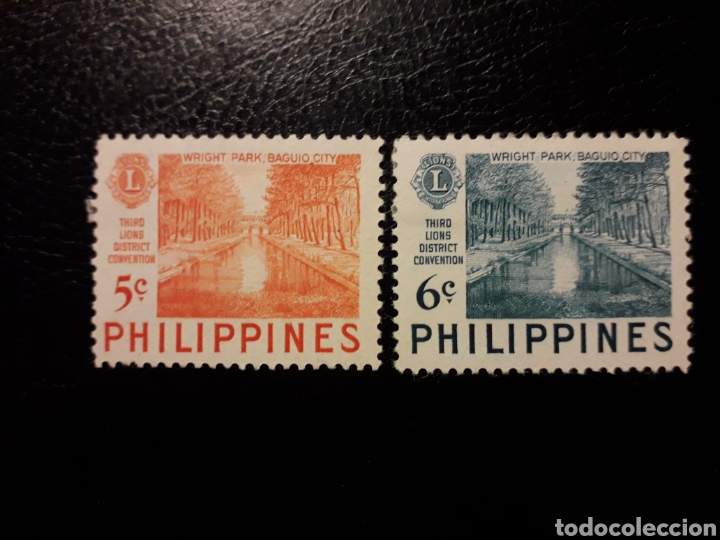 FILIPINAS. YVERT 407/8. SERIE COMPLETA NUEVA CON CHARNELA. LIONS INTERNATIONAL (Sellos - Extranjero - Asia - Filipinas)