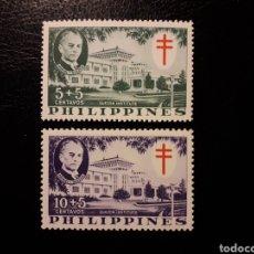Selos: FILIPINAS. YVERT 460/1. SERIE COMPLETA NUEVA SIN CHARNELA. PRO TUBERCULOSOS. Lote 134216689