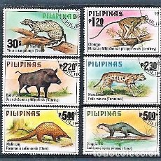 Selos: FILIPINAS,ANIMALES DE FILIPINAS,1979,USADOS,YVERT 1121-1126. Lote 135291338