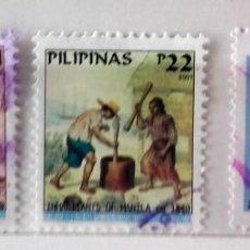 Sellos: FILIPINAS, LOTE DE 3 SELLOS DIFERENTES, USADOS . Lote 139685774