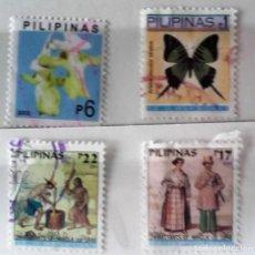 Sellos: FILIPINAS, LOTE DE 4 SELLOS DIFERENTES, USADOS . Lote 139685914