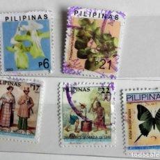 Sellos: FILIPINAS, LOTE DE 5 SELLOS DIFERENTES, USADOS . Lote 139685958