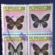 Sellos: BLOQUE DE 4 SELLOS USADOS DE FILIPINAS . Lote 139686290
