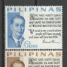 Stamps - Filipinas 1963 Ivert 565/66 *** Presidente Manuel A. Roxas - Personajes - 143415030