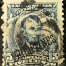 Sellos: FILIPINAS. SELLOS USA SOBRECARGADOS, 1904. 5 CENTS. AZUL (Nº 194 YVERT).. Lote 144565166