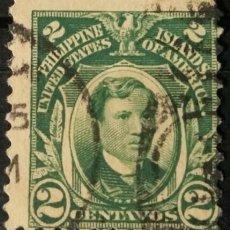 Sellos: FILIPINAS. SELLOS DE LA ADMINISTRACIÓN USA, 1917. 2 CENTS. VERDE INTENSO (Nº 204 YVERT).. Lote 144566382